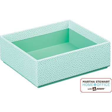 Martha Stewart Home Office™ with Avery™ Stack+Fit™ Shagreen Small Box, Blue