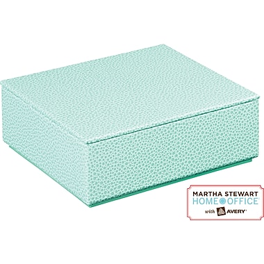 Martha Stewart Home Office™ with Avery™ Stack+Fit™ Shagreen Small Box with Lid, Blue