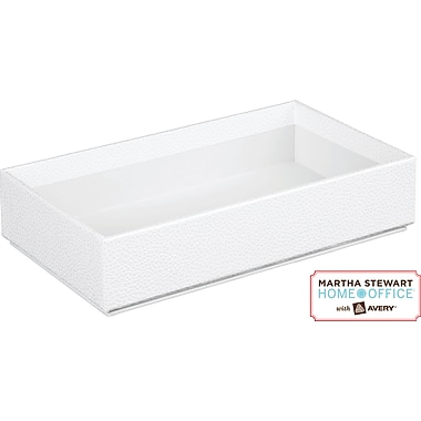 Martha Stewart Home Office™ with Avery™ Stack+Fit™ Shagreen Box, White