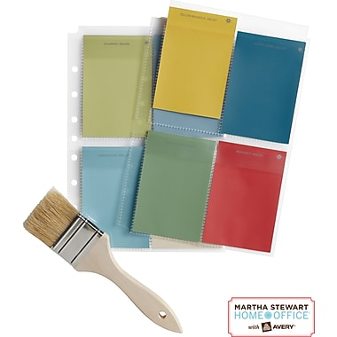 Martha Stewart Home Office™ with Avery™ Secure-Top™ Sheet Protectors 4 Pockets,Clear, 5-1/2in.x 8-1/2in.