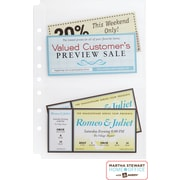 Martha Stewart Home Office™ with Avery™ Secure-Top™ Sheet Protectors 2 Pockets,Clear,5-1/2 x 8-1/2