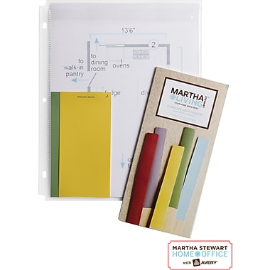 Martha Stewart Home Office™ with Avery™ Secure-Top™ Sheet Protectors 1 Pocket, Clear, 8-1/2in. x 11in.