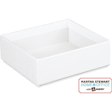 Martha Stewart Home Office™ with Avery™ Stack+Fit™ Shagreen Small Box, White