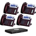 XBLUE X16 4-Line Small Office Telephone System, 4pk - Red Mahogany