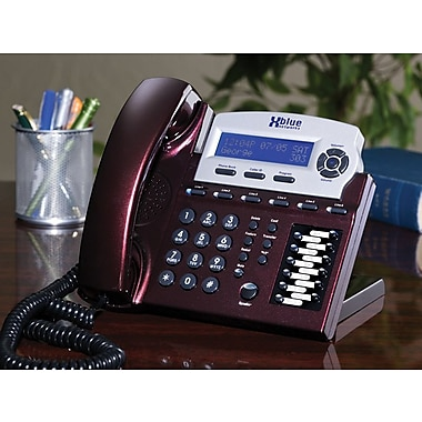 XBLUE X16 6-Line Small Office Digital Telephone, Red Mahogany