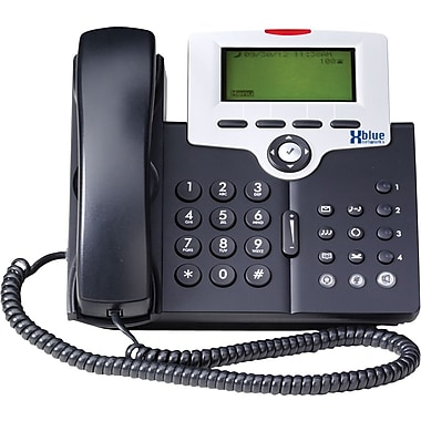 XBLUE X-2020 VoIP 6 Line LCD Telephone, Charcoal