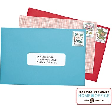 Martha Stewart Home Office™ with Avery™ Permanent Mailing Labels, Classic, 1-5/16in. x 4in., 42/Pack