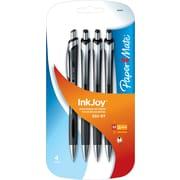 Paper Mate Inkjoy 550RT Retractable Ballpoint Pens, Medium Point 1.0mm, Black, 4/Pack