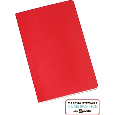 Martha Stewart Home Office™ with Avery™  Notebook, Red, 3-1/2in. x 5-1/2in.