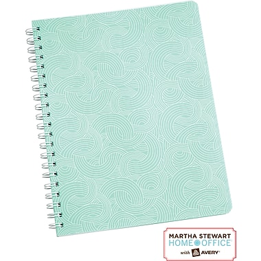 Martha Stewart Home Office™ with Avery™ Notebook, Blue, Textured, 8-1/2in. x 11in.