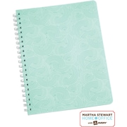 Martha Stewart Home Office™ with Avery™ Notebook, Blue, Textured, 8-1/2 x 11