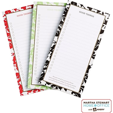 Martha Stewart Home Office™ with Avery™ Damask Magnetic Note Pad, 3-1/2in. x 7in.