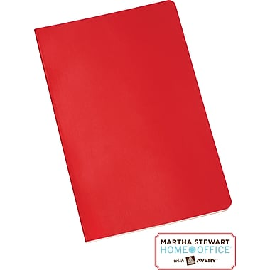 Martha Stewart Home Office™ with Avery™ Notebook, Red, 5-1/2in. x 8-1/2in.