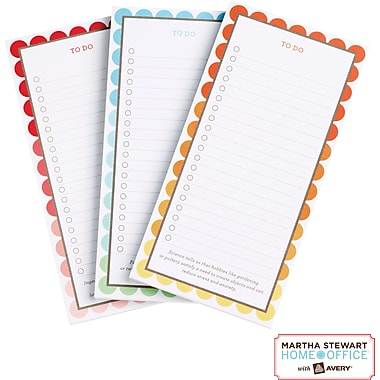 Martha Stewart Home Office™ with Avery™ Magnetic Note Pad, 3-1/2in. x 7in.