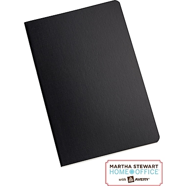 Martha Stewart Home Office™ with Avery™  Notebook, Black, 5-1/2in. x 8-1/2in.