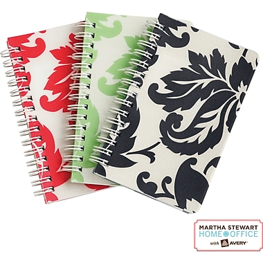 Martha Stewart Home Office™ with Avery™ Notebooks, Damask, 3-1/2in. x 5-1/2in.