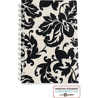 Martha Stewart Home Office™ with Avery™ Damask Notebook, Black, 5-1/2in. x 8-1/2in.