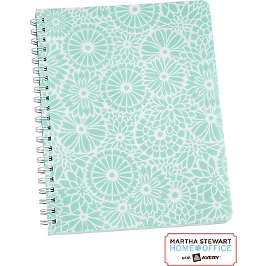 Martha Stewart Home Office™ with Avery™ Floral Notebook, Blue, 8-1/2in. x 11in.