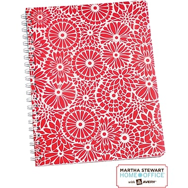 Martha Stewart Home Office™ with Avery™ Floral Notebook, Red, 8-1/2in. x 11in.