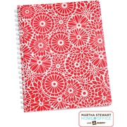 Martha Stewart Home Office™ with Avery™ Floral Notebook, Red, 8-1/2 x 11