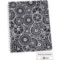 Martha Stewart Home Office™ with Avery™ Floral Notebook, Black, 8-1/2in. x 11in.