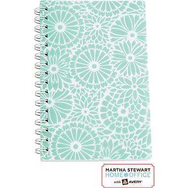 Martha Stewart Home Office™ with Avery™ Floral Notebook, Blue, 5-1/2in. x 8-1/2in.