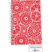 Martha Stewart Home Office™ with Avery™ Floral Notebook, Red, 5-1/2 x 8-1/2