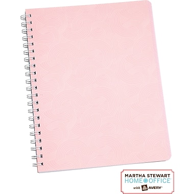 Martha Stewart Home Office™ with Avery™ Notebook, Pink, Textured, 8-1/2in. x 11in.