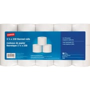 "Staples® BPA Free 3-1/8"" x 230' Thermal Rolls, 10 Rolls/Pack"