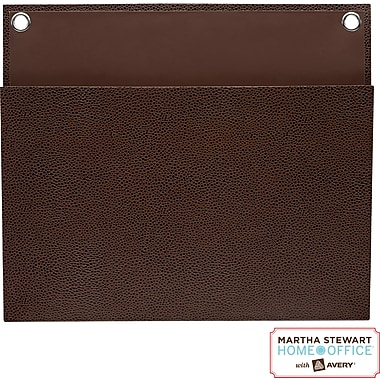 Martha Stewart Home Office™ with Avery™ Large Shagreen Pocket, Brown, 12in. x 10-1/4in.