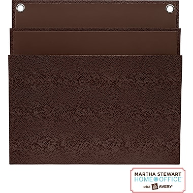 Martha Stewart Home Office™ with Avery™ Large Shagreen Double Pocket, Brown, 11-15/16 in. x 12-1/4in.