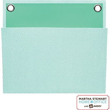 Martha Stewart Home Office™ with Avery™ Small Shagreen Pocket, Blue, 8in. x 7-1/4in.