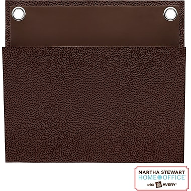 Martha Stewart Home Office™ with Avery™ Small Shagreen Pocket, Brown, 8in. x 7-1/4in.