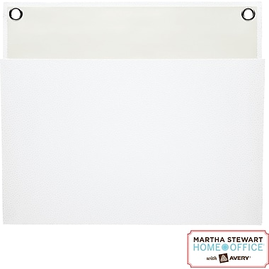 Martha Stewart Home Office™ with Avery™ Large Shagreen Pocket, White, 12in. x 10-1/4in.