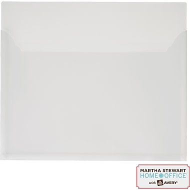 Martha Stewart Home Office™ with Avery™ Pocket, White, 12in. x 10-1/4in.