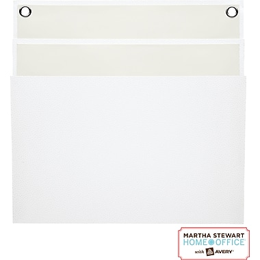 Martha Stewart Home Office™ with Avery™ Large Shagreen Double Pocket, White, 11-15/16 in. x 12-1/4in.
