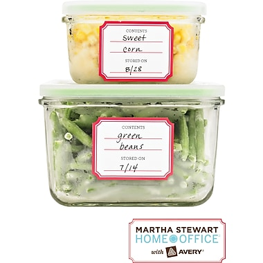 Martha Stewart Home Office™ with Avery™ Pre-Printed Kitchen Labels, 1-3/4in.x 2-1/4in., 24/Pack