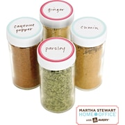 Martha Stewart Home Office™ with Avery™ Kitchen Labels, Red Border, Round, 1-5/8, 36/Pack