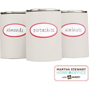 Martha Stewart Home Office™ with Avery™ Kitchen Labels, Red Border, Oval, 1-5/8 x 3-1/2, 18/Pack