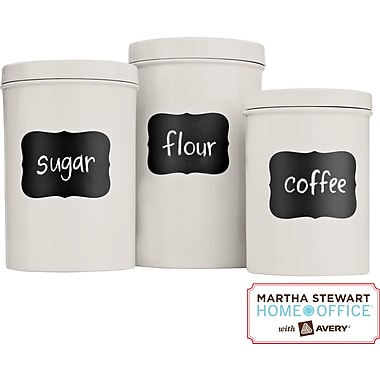 Martha Stewart Home Office™ with Avery™ Chalkboard Labels, Flourish, 2-1/2in. x 3-3/4in., 12/Pack