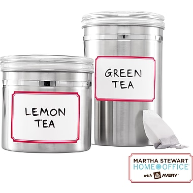 Martha Stewart Home Office™ with Avery™ Dry Erase Labels, Red Border, 2-1/2in. x 3-3/4in., 12/Pack
