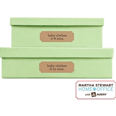 Martha Stewart Home Office™ with Avery™ Brown Kraft Labels, Classic, 1-5/16in. x 4in.,  42/Pack