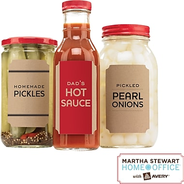 "Martha Stewart Home Office™ with Avery™ Brown Kraft Labels, Classic, 2-1/2in. x 3-3/4"", 12/Pack"