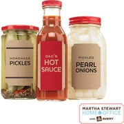 "Martha Stewart Home Office™ with Avery™ Brown Kraft Labels, Classic, 2-1/2 x 3-3/4"", 12/Pack"