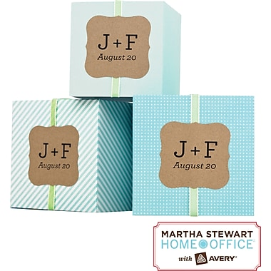 Martha Stewart Home Office™ with Avery™ Brown Kraft Labels, Flourish, 1-5/8in. x 1-3/4in., 36/Pack