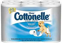 Kleenex® Cottonelle® Ultra Soft Bath Tissue, 1-Ply, 12 Rolls/Pack