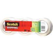 Scotch® High Performance Sure Start™  Hot Melt Packaging Tape, Clear, 1.88 x 43.7 yds, 3/Pack