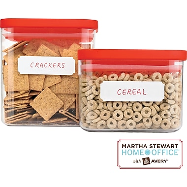 Martha Stewart Home Office™ with Avery™ Kitchen Labels, Classic, 3/4in. x 1-3/4in., 72/Pack