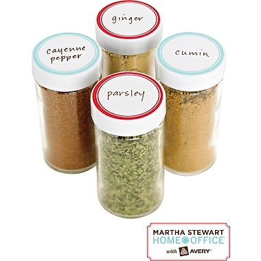 Martha Stewart Home Office™ with Avery™ Kitchen Labels,  Blue and Red Border, Round