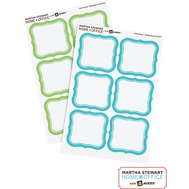 Martha Stewart Home Office™ with Avery™ Removable Labels, Flourish, 1-5/8in. x 1-3/4in., 36/Pack